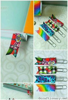Washi tape and paper clip bookmakers