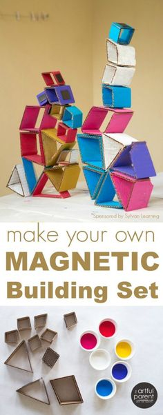 Make Your Own Magnetic Building Set with Cardboard