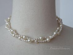 gift party fashion twisted manmade pearl necklace by productsofme, $6.90