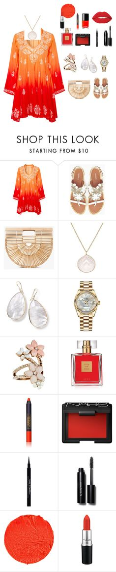 """Sem título #146"" by criscaruccio ❤ liked on Polyvore featuring Juliet Dunn, Max&Co., Cult Gaia, Dezso by Sara Beltrán, Ippolita, Rolex, Accessorize, Avon, Lipstick Queen and NARS Cosmetics"