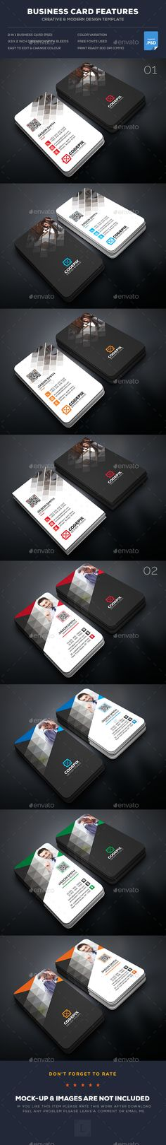 Corporate Business Card Templates PSD Bundle. Download here: https://graphicriver.net/item/corporate-business-card-bundle/17549242?ref=ksioks