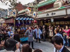 "Kabuki in Asakusa 4/7 The cart with musicians leading Ganjiro's procession (or ""o-neri"") to Sensoji. #Asakusa, #Kabuki, #Ganjiro, #Sensoji February 27, 2015 © Grigoris A. Miliaresis"
