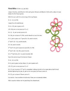 Flower tatting - I so wanted to learn to tat.