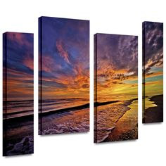 The Sunset' by Antonio Raggio 4 Piece Photographic Print Gallery-Wrapped on Canvas Set