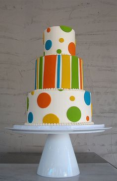 Colourful fun cake