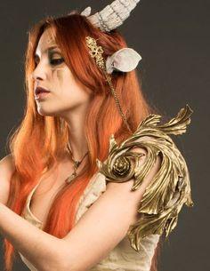 Fantasy female shoulder armor. Elven armor piece art noveau modernism inspired pauldron.
