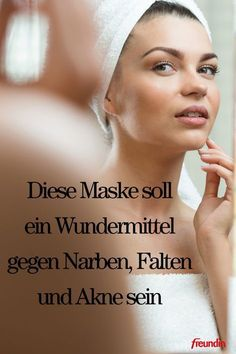 This mask is supposed to be a miracle cure for scars, wrinkles and acne .- Diese Maske soll ein Wundermittel gegen Narben, Falten und Akne sein With a few ingredients from your kitchen cabinet you can make the face mask yourself - Natural Hair Mask, Natural Hair Styles, Natural Beauty, Beauty Hacks Every Girl Should Know, The Face, Les Rides, Beauty Tips For Face, Face Tips, Skin Care Remedies