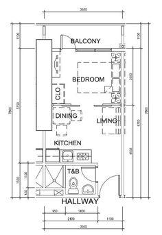 Студия для аренды в Сингапуре - SMART&MINI. Квартира до 30 кв. метров | PINWIN - конкурсы для архитекторов, дизайнеров, декораторов