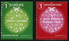 Belgium Stamps - Sc.# 2780-81 - Christmas 2015 & New Years 2016 Self-Adhesive