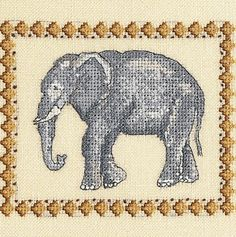 DMC Elephant so pretty - this site has loads of free patterns DMC threads cross stitch