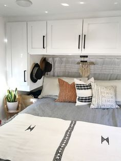 Here are smart (and cheap) ways to store more in your bedroom, from Apartment Therapy: There's something so cozy about a small bedroom, but there's also something pretty maddening about tryin Girls Bedroom, Bedroom Setup, Bedroom Storage, Bedroom Decor, Bedroom Ideas, Master Bedroom, Wall Storage, Bedroom Designs, Bedroom Furniture