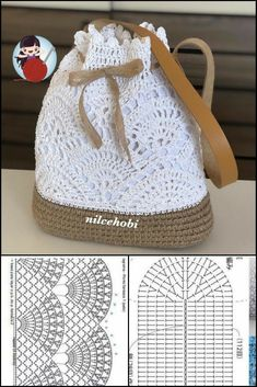 Mode Crochet, Crochet Tote, Crochet Handbags, Crochet Purses, Crochet Shawl, Crochet Crafts, Crochet Stitches, Crochet Projects, Crochet Baby