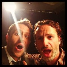 Hardwick & Lincoln : talking dead selfie