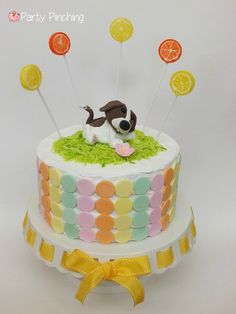 Dog Days of Summer party, puppy party ideas, dog theme party, beagle cake