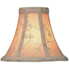Brown bell lamp shade with clip on assembly lights lite source dark beige bell lamp shade with clip on assembly ch537 6 mozeypictures Gallery