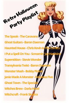 Retro Halloween Party Playlist Super Spooky Songs From The And Perfect For A Retro Halloween Party Retro Halloween, Halloween Music, Halloween Movies, Halloween 2019, Holidays Halloween, Happy Halloween, Halloween Party, Halloween Decorations, Vintage Halloween Costumes