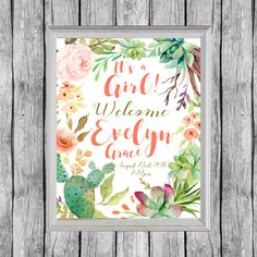 Welcome Baby Sign. Hospital Door Decoration. by SunbirdPrintables