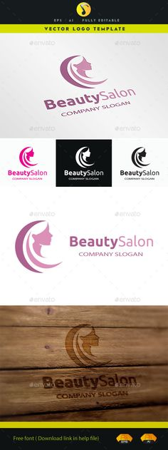 Beauty Salon - Logo Design Template Vector #logotype Download it here: http://graphicriver.net/item/beauty-salon/11569390?s_rank=1269?ref=nesto