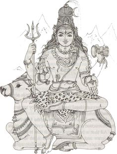 Lord Shiva Coloring Pages – Play coloring with us Kerala Mural Painting, Tanjore Painting, Indian Art Paintings, Shiva Art, Hindu Art, Outline Drawings, Art Drawings Sketches, Tribal Drawings, Lord Shiva Family