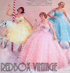 Tiered Formal Prom Dress Vintage 50's Frothy Couture
