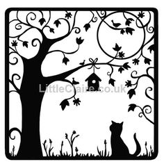silhouette cat art - Google Search