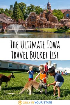 These 12 places should go on your Iowa 2020 Bucket List immediately! From the best dining to fun family resorts, the Hawkeye Stat has it all. Amazing Destinations, Travel Destinations, Abandoned Prisons, Resort Plan, Best Bucket List, Family Resorts, Hidden Beach, Boat Tours, Staycation