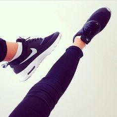 Dis is ma new BAE! Nike Air Max Thea Black White