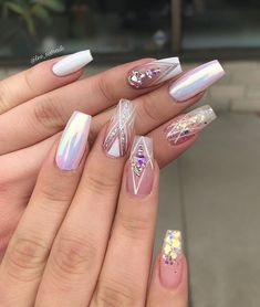 Ideas for Absolutely Stunning Nail Art Designs. Check out our nails selection for the very best in unique or custom Absolutely Stunning Nail Art Designs. Perfect Nails, Gorgeous Nails, Pretty Nails, Dimond Nails, Hair And Nails, My Nails, Hard Gel Nails, Nagel Bling, Best Acrylic Nails