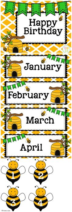 Bees Birthday Bulletin Board