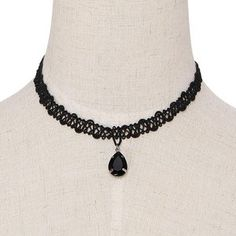 Yoins Waterdrop Crystal Pendant Choker Necklace 45k