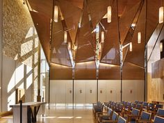 Colombiere Jesuit Community Residence and Chapel, Baltimore; designed by Bohlin Cywinski Jackson