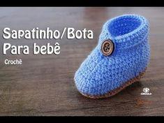 Sapatinho/Bota para bebê em Crochê | Parte 1 | Professora Simone - YouTube