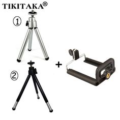 Flexible Universal Stand Tripod + Clip Bracket Holder Mount Adapter For iPhone. Samsung