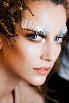 Alana Zimmer at Christian Dior Autumn winter 2011/2012 Couture backstage -  futuristic look