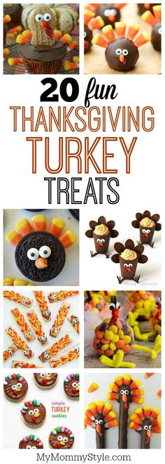 20 fun and easy Thanksgiving turkey treats