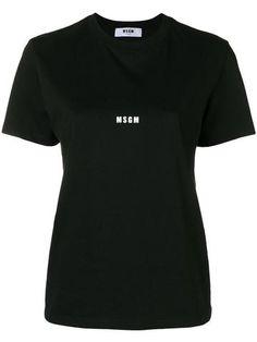 Prêt-à-porter WOMEN – #byOOTD Become A Fashion Designer, Print Logo, Msgm, Black Cotton, Women Wear, Short Sleeves, Womens Fashion, Mens Tops, T Shirt