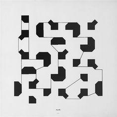 Bruno Munari, Percorsi visivi (Curve di Peano), 1975