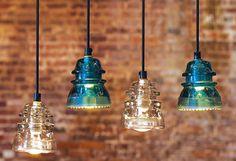 Lámparas colgantes hechas de aisladores de potencia eléctricos de vidrio (1500×1028) http://atmedia.imgix.net/f65c3a7c46f61ba086d2c81de53fbf3f8b636c9f?w=1500&fit=clamp