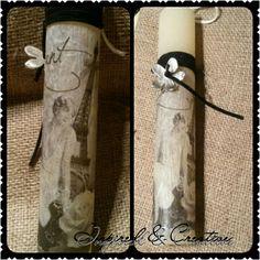 So elegant Easter Candle, Easter Crafts, Vintage Images, Voss Bottle, Decoupage, Candles, Elegant, Diy, Candle