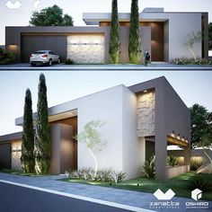 Awesome Modern House Design for Your Dream House Modern Architecture House, Residential Architecture, Architecture Design, Modern House Plans, Modern House Design, Modern Exterior, Exterior Design, Contemporary Building, Contemporary Office