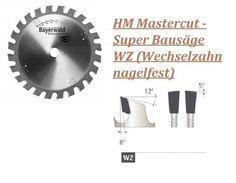 HM Mastercut - Super Bausäge WZ (Wechselzahn nagelfest)