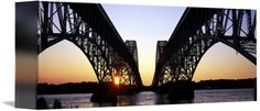 Silhouette of South Grand Island Bridges, NY by Ik Stores