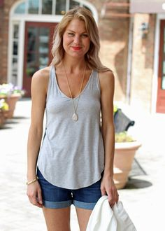 Tart Christie Tank-Grey, basic tank