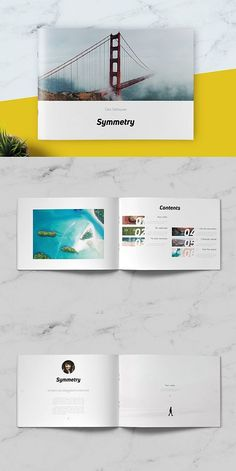 --- Symmetry Minimal Brochure was designed as a universal template for clean and minimalistic, however template can be easily used for many editorial contents Brochure Layout, Brochure Design, Brochure Template, Booklet Layout, Free Brochure, Creative Brochure, Branding Design, Project Proposal Template, Brochures