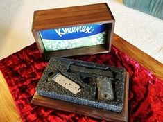 Tactical Tissue Box for Small Hand Gun craft storage furniture furniture storage gun storage furniture hidden gun storage furniture hidden storage furniture outdoor furniture with storage patio furniture with storage storage furniture ideas Secret Gun Storage, Hidden Gun Storage, Weapon Storage, Woodworking Joints, Woodworking Projects Diy, Woodworking Plans, Woodworking Beginner, Woodworking Organization, Woodworking Machinery