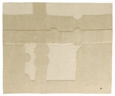 """""""Gravitación 1993"""" is a design rug produced by Nani Marquina, designed by Eduardo Chillida and made of Mohair and New Zealand wool"""