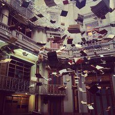 flying books by boltanski. by princepelayo.
