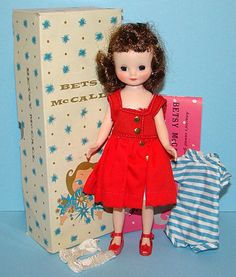 "I loved my 8"" Betsy McCall doll (c1957). Unfortunately she was well played with and not in mint condition like this one."