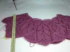 Crochet Yoke, Crochet Cable, Crochet Poncho, Crochet Chart, Crochet Woman, Learn To Crochet, Crochet Clothes, Free Pattern, Crochet Necklace