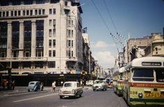 ARA, trolley bus No108, Queen Street, Auckland Auckland New Zealand, My Family History, Homeland, Historical Photos, Buses, Kiwi, 1960s, The Neighbourhood, Nostalgia